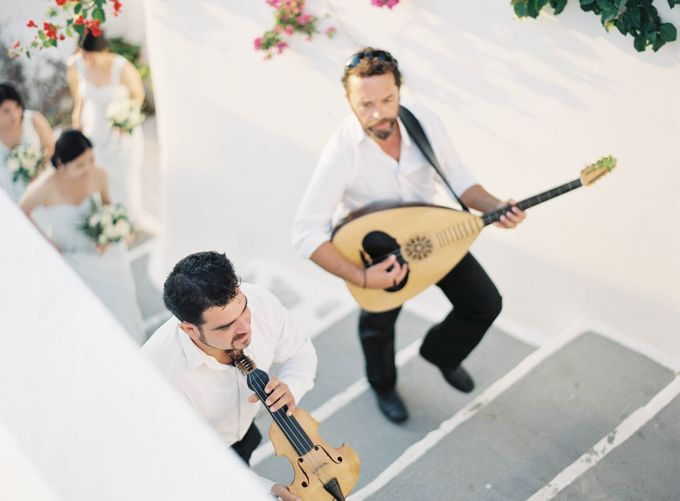 Classic and Beautiful Olive Green and Sea Blue Wedding in Santorini, Greece by Jen Huang Photo - 043