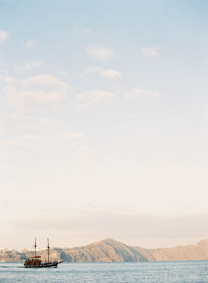 Classic and Beautiful Olive Green and Sea Blue Wedding in Santorini, Greece by Jen Huang Photo - 001