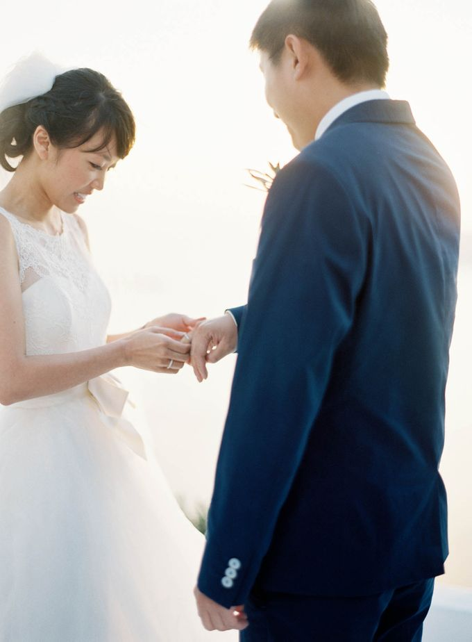 Classic and Beautiful Olive Green and Sea Blue Wedding in Santorini, Greece by Jen Huang Photo - 021
