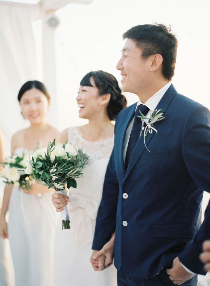 Classic and Beautiful Olive Green and Sea Blue Wedding in Santorini, Greece by Jen Huang Photo - 023