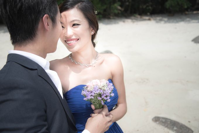 Bridal Makeup and Hairstyling for Pre-Wedding Shoot - Elegant, Youthful and Natural by Sylvia Koh Makeup and Hairstyling - 002