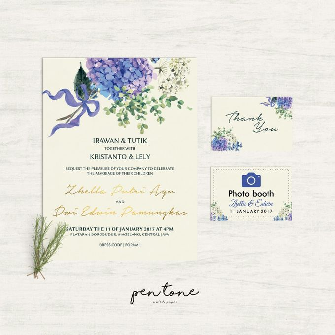 Wedding Invitation For Zhella & Edwin by Pentone Craft and Paper - 001
