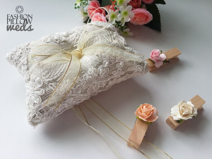 add to board custom wedding ring pillow by fashion pillow weds 001 - Wedding Ring Pillow