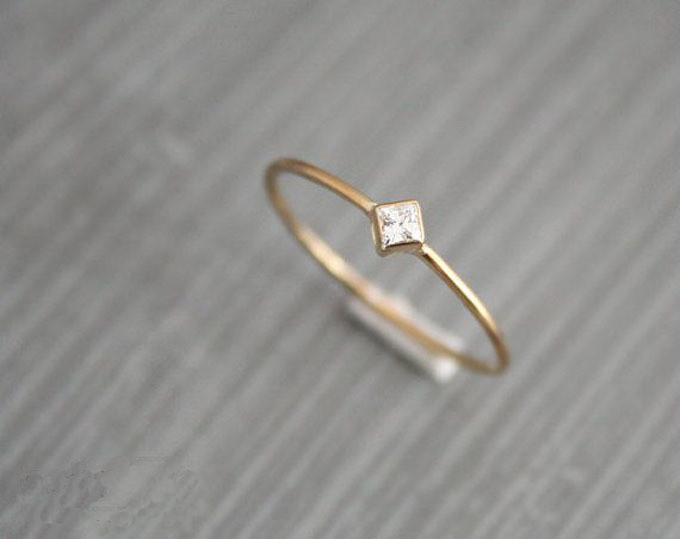 etsy the big trend of small engagement rings 003 - Small Wedding Rings